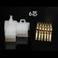 10sets 2.8mm Electrical wire Connector 6P Male Female Motorcycle terminal plug
