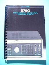 Service MANUAL per REVOX b760, ORIGINALE
