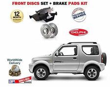 FOR SUZUKI JIMNY 1.3i JLX 1998   2005  NEW FRONT BRAKE DISCS SET + DISC PADS SET
