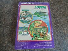UTOPIA INTELLIVISION NEW OLD STOCK RETRO GAME SEALED IN GATEFOLD BOX FROM 1981
