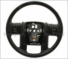 NEW OEM BLACK LEATHER STEERING WHEEL 2013-2015 FORD F250 F350 F450 SUPER DUTY