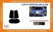 pellicola oscurante vetri alfa romeo 147 5 porte dal 2001 al 2006 kit posteriore