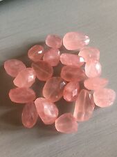 Rose Quartz Large Faceted Nugget Bead (per bead) Semi Precious Gemstone