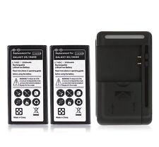 2x Akku 3500mAh USB Wall Charger UK AU EU-US für Samsung Galaxy i9600 S5 S 5