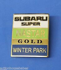 WINTER PARK SUBARU SUPER - Ski Pin Badge Skiing - NASTAR GOLD - Colorado CO MTN