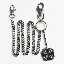 NEW WALLET KEY CHAIN SKULL IRON CROSS JEAN  BIKER BIKE