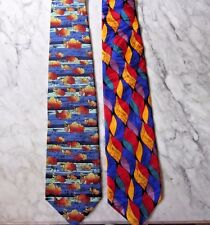Jerry Garcia Men's (2) Silk Ties J. Garcia Collectors Edition Great Designs
