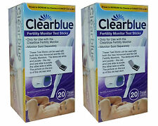 2 x 20 CLEARBLUE DUAL ADVANCED FERTILITY MONITOR URINE TESTS/TESTING KITS/STICKS
