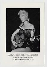 MODERN POSTCARD - Marilyn Monroe, guitar, Manchester 1989, 3rd Annual Convention