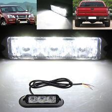 3W LED Car Auto Flashing Strobe Emergency Warning Light Lamp 12V-24V WHITE us