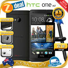 HTC ONE M7 32GB BLACK 4G LTE 100% UNLOCKED PHONE + 12MTH AUS WTY (SEALED BOX)
