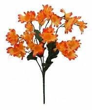 30 Small Daisies ORANGE  ~ Silk Wedding Flowers Bouquets Centerpieces Decoration