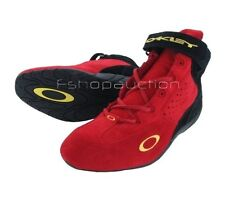 Oakley Kart Mid FMJ Red Black Size 6 US 37 Mens Boys Casual Suede Racing Shoes