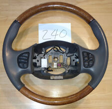 Ford Excursion F250 F350 Lincoln Navigator Leather Wood Steering Wheel Radio
