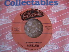 "THE FIVE SATINS ""OUR ANNIVERSARY"" / ""PRETTY BABY"" 7"" 45 MINT- COLLECTABLE"