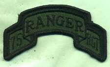 Vintage US Army 75th Ranger Rgt OD Subdued Patch Tab