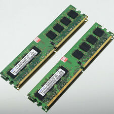 New 2GB 2 x1GB PC2-5300 DDR2 667 667MHZ 240PIN Non-Ecc DIMM Desktop 2G MEMORY