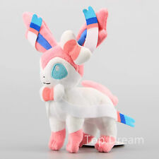 Pokemon XY Eevee Stand Sylveon Nymphia Plush Stuffed Animal Doll Toy 9'' Teddy