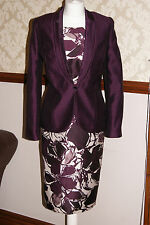 Jacques Vert Dress Jacket Wine Oyster Outfit Wedding Mother of Bride BNWT 10 12