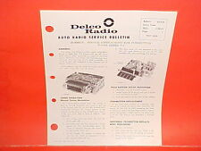 1963 DELCO GM RADIO PUSH BUTTON SERIES P3 TUNER SERVICE MANUAL CADILLAC BUICK