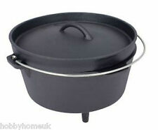 4.25 ltr DUTCH OVEN CAST IRON BUSHCRAFT CAMP COOKING POT - CAMPING HIKING