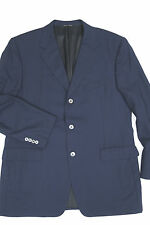 CANALI Navy Sport Coat/Blazer 44 R 3 button side vents made in ITALY