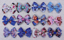 """New Disney 12pcs kids clip girl 2.5"""" hair bows Boutique party hairbows 2327-2338"""