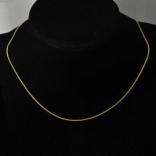 Fashion Jewelry Womens Korean 14K Yellow Gold Filled Thin Snake Chain Necklace