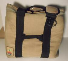 Vintage APPLE ORIGINAL LOGO Computer CARRY-ON BAG Tan OLD LOGO Laptop Messenger!