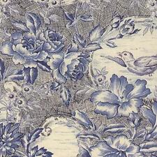 Fat Quarter The Toiles Bird Delft Blue Print Cotton Quilting Fabric