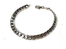 Bijou argent 925 bracelet maille gourmette tressée  bangle