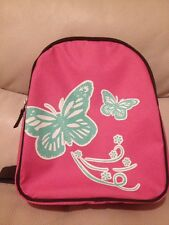 Pottery Barn Kids My First Backpack Pink Butterfly NWT