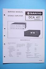 Service Manual for Sanyo DCA-411, ORIGINAL