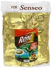 PHILIPS Senseo 100 x Cafè RENE Crème Costa Rica Caffè Pads Borse BACCELLI
