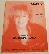 Partition sheet music CATHERINE LARA : Maguy * 80's