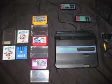 Sharp Twin Famicom Turbo (black) - Very Clean - (4) Great Games! - USA Seller :]