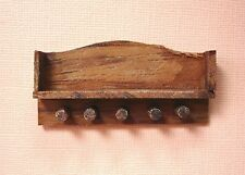Dollhouse Miniature Walnut Kitchen Wall Shelf Doll house Furniture