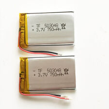 2 x pcs 750mAh 3.7V Lipo Polymer Battery For MID DVD GPS PDA mobile phone 503048