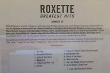 ROXETTE GREATEST HITS - Advance Promo 12 track cd - MINT! the look dangerous