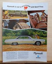 1967 magazine ad for Plymouth - Sport Fury hardtop & fast top, To Win You Over