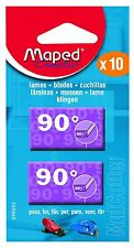 "MAPED CRAFT HOBBY MAT CUTTER REPLACEMENT BLADES ""90 Degree"" [Pack of 10 Blades]"