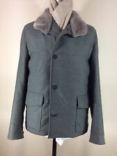 LORO PIANA Rain System Zealander Coat With Beaver Fur Collar--NWT