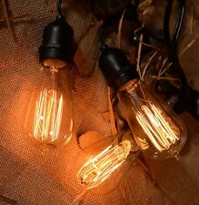 Vintage String Lights Patio Lights W/ Vintage Edison Bulbs Weatherproof  Outdoor