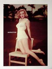 MARILYN MONROE  PIN-UP POSTER POSING SEXY IN WHITE HOT BATHING SUIT PHOTO!