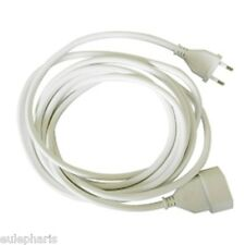 Prolongador 4 Metros Alargador de Enchufe plano 2 polos 2x1mm - Cable BLANCO