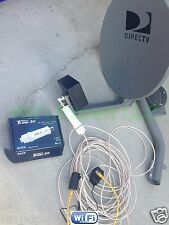 NO Dish BiQuad WiFi Antenna + ALFA PoE TUBE 2H Outdoor Booster GET FREE INTERNET