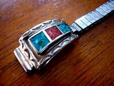 vintage ladies southwestern motif cuff expansion watch band 12mm ends