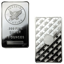 10 oz Sunshine Silver Bars - 20 oz Total .999 fine (New, Lot of 2)