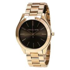 MICHAEL KORS Runway Rose Gold Chocolate Dial Classic Slim Ladies Watch MK3181