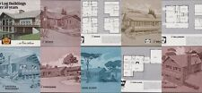 WARD CEDAR HOMES HOUSE PLANS OVER 30 1960S-70S PRACTICAL LOG CABINS VACATION HO